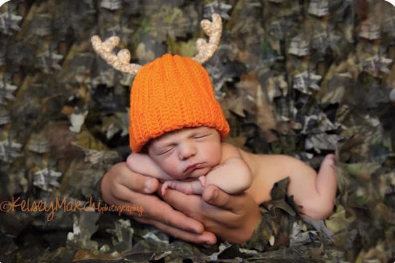 Baby Deer Hat  Crochet hat  Baby Antler Hat  Daddy's image 0