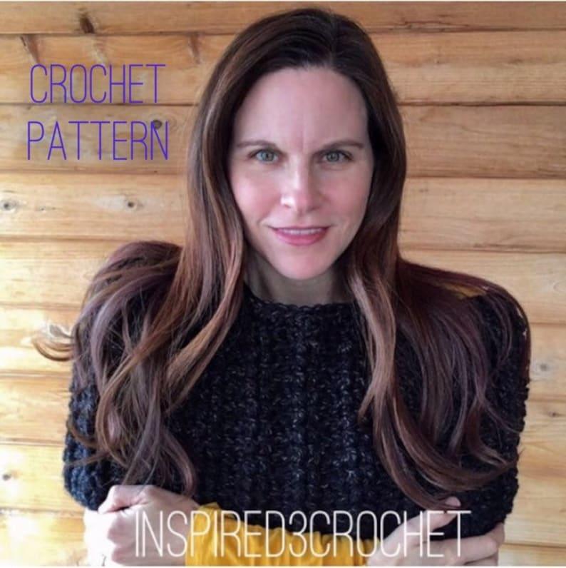 Crochet Pattern  Chunky Oversized Cowl  Scarf  Wrap image 0