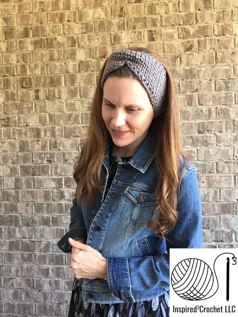 Ear Warmer Headband  The Quincy Crochet headband image 0