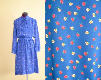 1970s Vintage Lady Carol Petites of New York Secretary Dress - size 16 (L XL) bust 42
