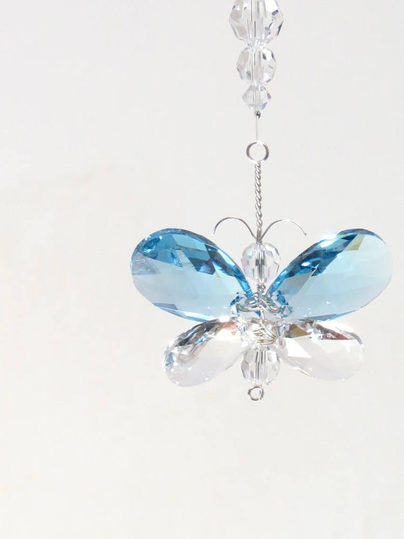 709ad9b3a429 Regalo para mamá Swarovski mariposa de cristal adorno rosa
