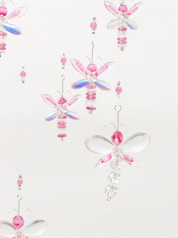 Rosa Libelle Mobile Mädchen Zimmer Dekor Baby Mädchen Mobile | Etsy