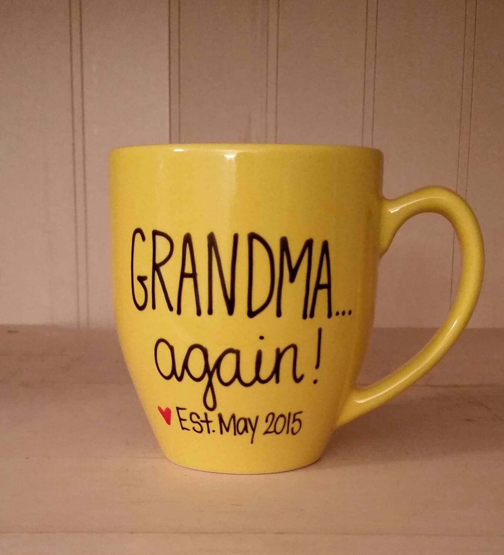Grandma again mug Mug for grandma to be pregnancy