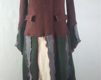 100% Cashmere upcycled pixie woodland Katwise long double breasted coat
