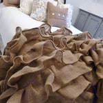Burlap Ruffled Throw