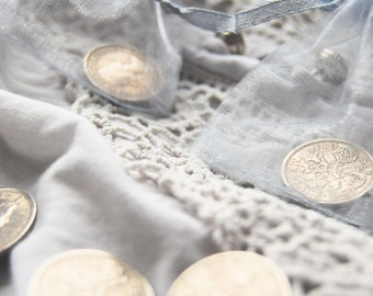 Silver Sixpence christening gift for luck
