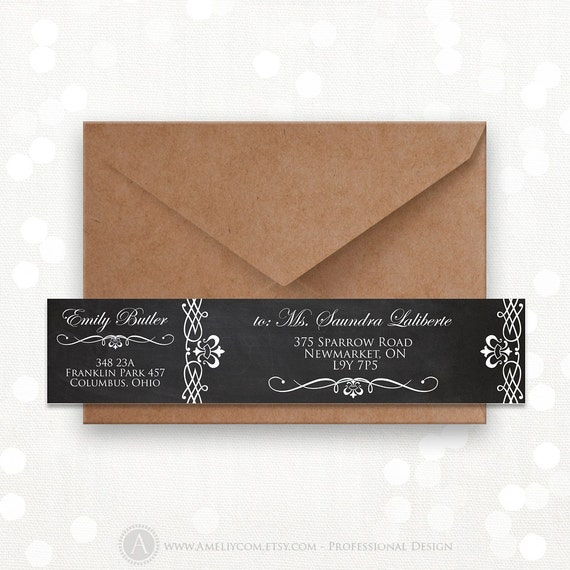 items similar to printable wrap around address labels editable instant download digital diy