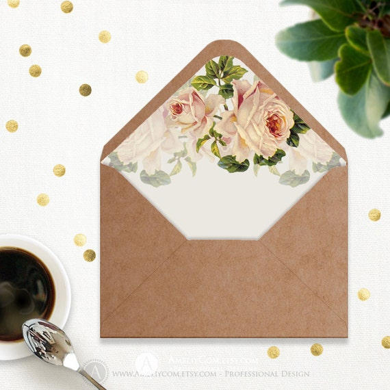 how to make digital envelope liner from images