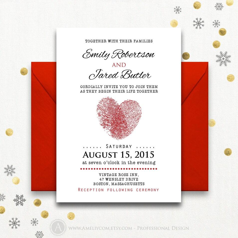 Printable Valentine\'s Wedding Invitations Love Romantic