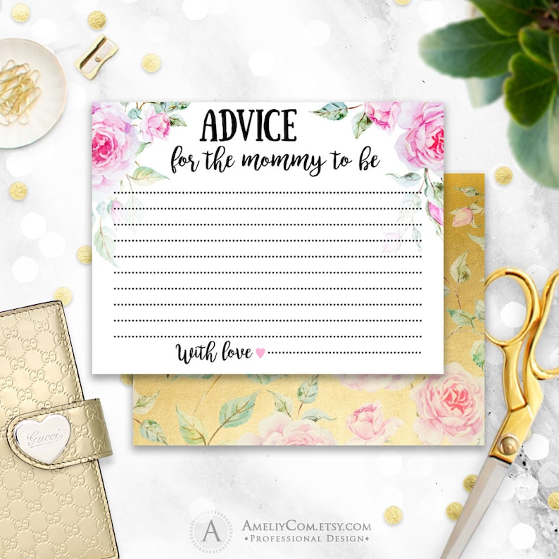 photograph regarding Mommy Advice Cards Printable titled Refreshing Mother Assistance Playing cards Printable Boy or girl Shower Suggestions Playing cards, Tips for the Mommy in the direction of be, Do-it-yourself Refreshing Mommy Guidance Watercolor Gold Prompt Down load