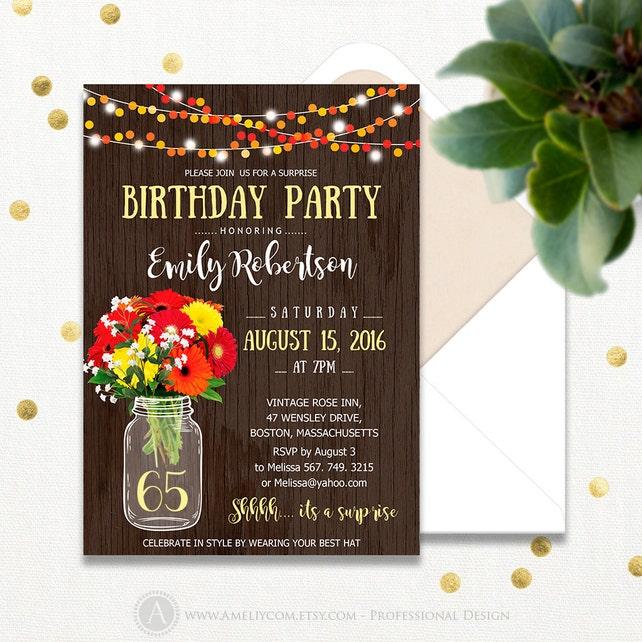 Surprise birthday invitations printable adult 65th birthday etsy image 0 filmwisefo