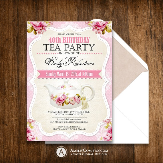 Tea party birthday invitation printable adult girl invite etsy image 0 filmwisefo