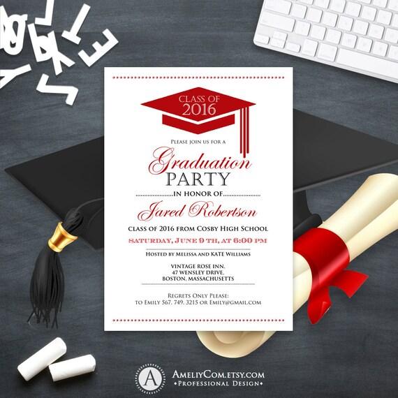 It's just a picture of Gargantuan Printable Graduation Announcement