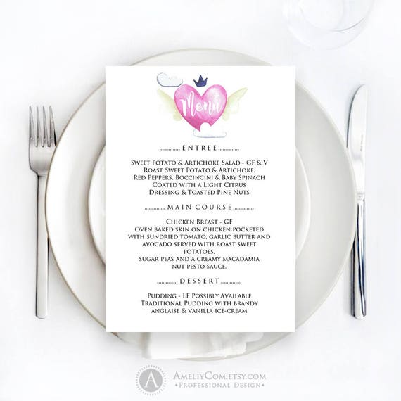 Dinner Menu Restaurant Menu Valentine S Day Menu Menu Etsy