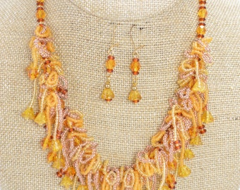 Amber Waterfall Set