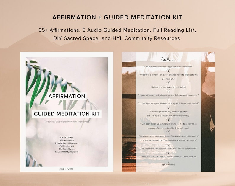 Affirmation and Guided Meditation Kit  Mindfulness image 0