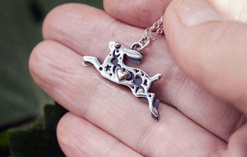 24... Sterling Silver with Rose Gold Jewellery Lovely Moon Gazing Cats Pendant