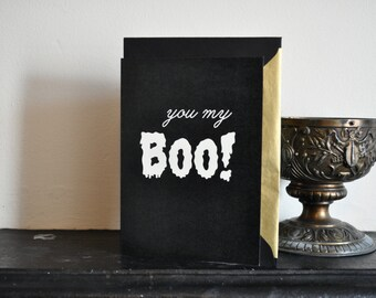 Illustrated Valentine's Card - Alternative Valentine's Card, 'You my Boo!'