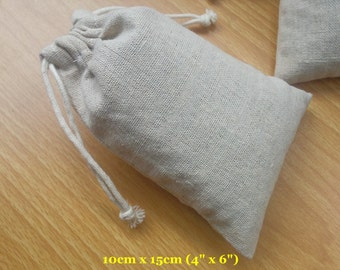 "30 pcs 4""x6"" Organza Bags Plain Cotton Linen Bags Jewelry Pouches String Bags Cloth Bags"