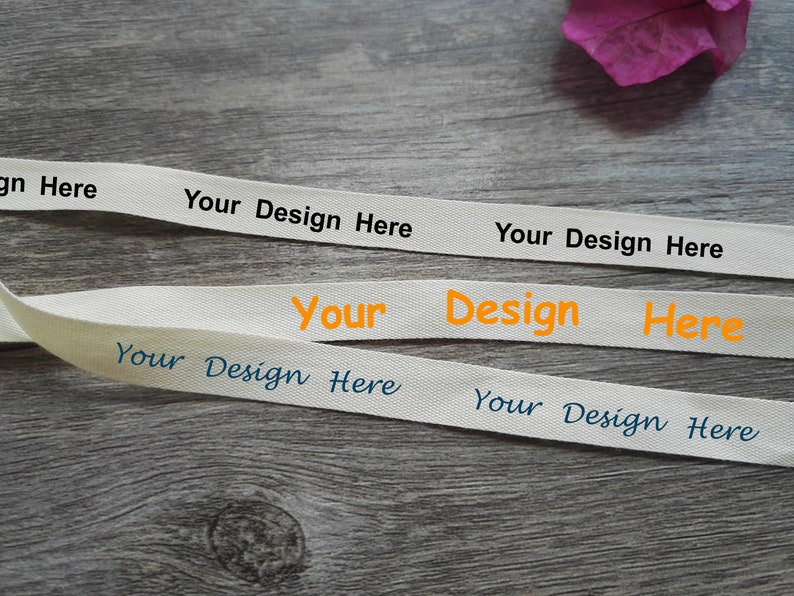 100 Yards Custom Printed Cotton Tape | Personalized Fabric Tags | Logo  Imprinted Ribbon - 10mm, 15mm, 30mm & More