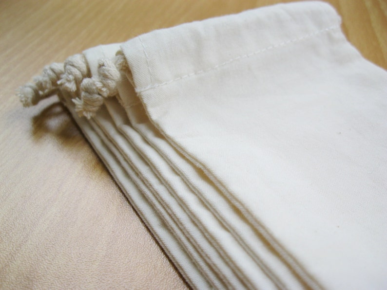 100 pcs 4\u201dx6\u201d String Bags Plain Muslin Bags Party Favor Bags Organza Gift Bags