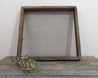 Plant Tray, Rustic Wood Tray, Greenhouse Tray, Shadow Box, Jewelry Organizer, Earring Display, Farmhouse Decor