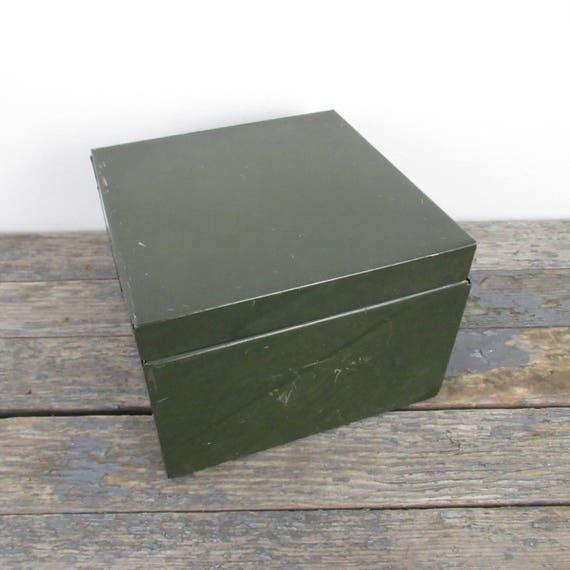 Etonnant Industrial Metal Storage Box Stash Box Green Metal Box | Etsy