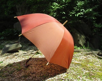 Vintage Umbrella, Large Crook Handle Umbrella, Sun Parasol, Rain Umbrella, Photography Prop