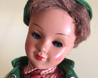 Vintage 50s German Bavarian Boy Doll