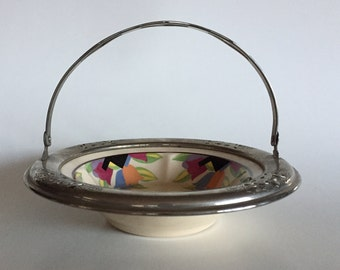 Vintage 20s Art Deco UMBERTONE Chrome Handled Dish