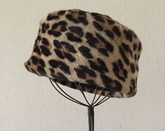 Vintage 60s Faux Leopard Hat
