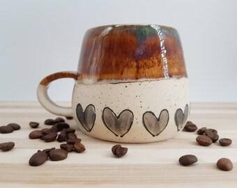 Heart Bottoms Ceramic Mug