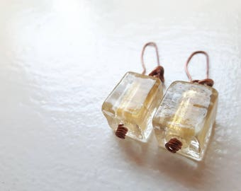 Honey Cube Earrings