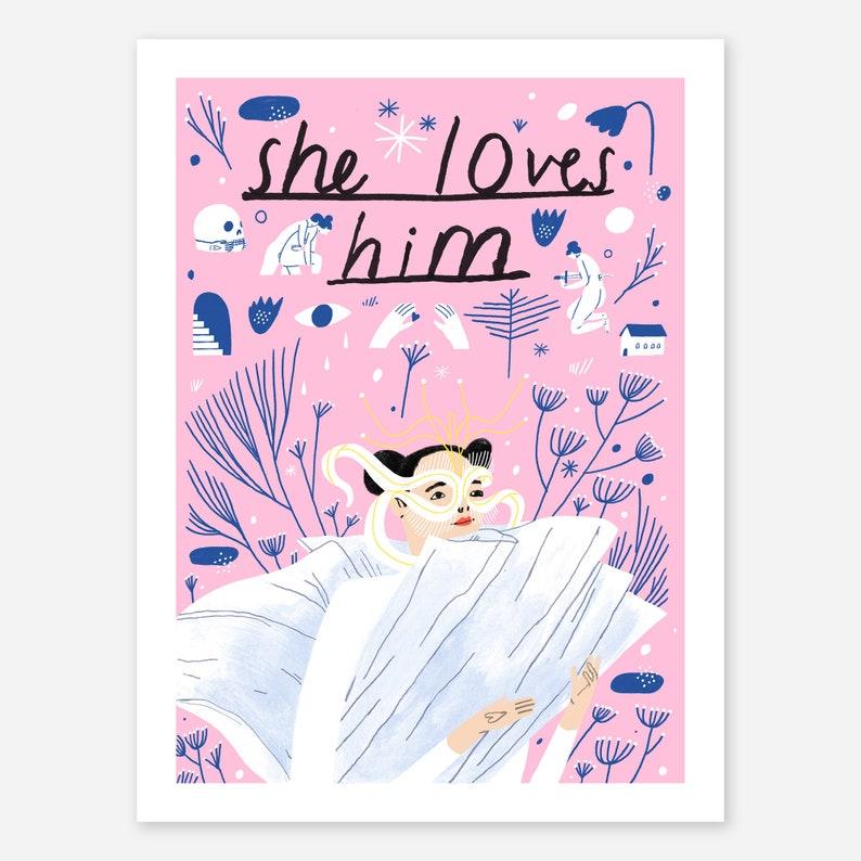 She Loves Him Björk Print  Musician Bjork Music Poster image 0