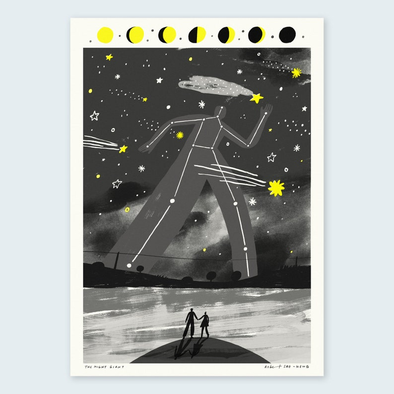 A3 The Night Giant Print image 0