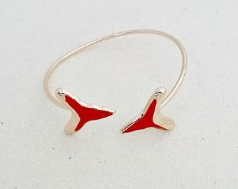 Red Shark Tooth Bangle