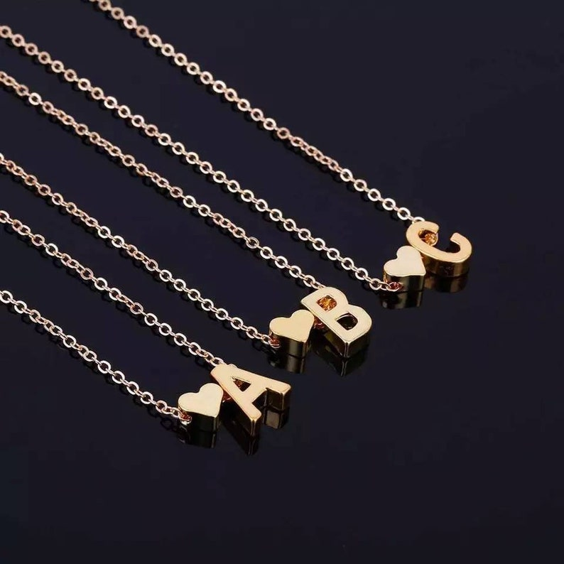 Initial Letter Necklace Monogram Jewelry Statement Jewelry image 0