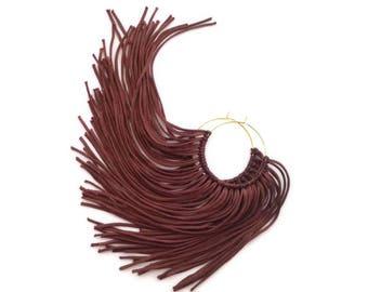Chocolate Fringe Hoops