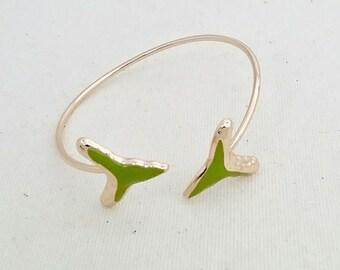 Green Shark Tooth Bangle