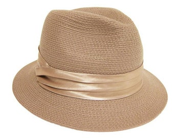 Camel Wool Fedora Hat