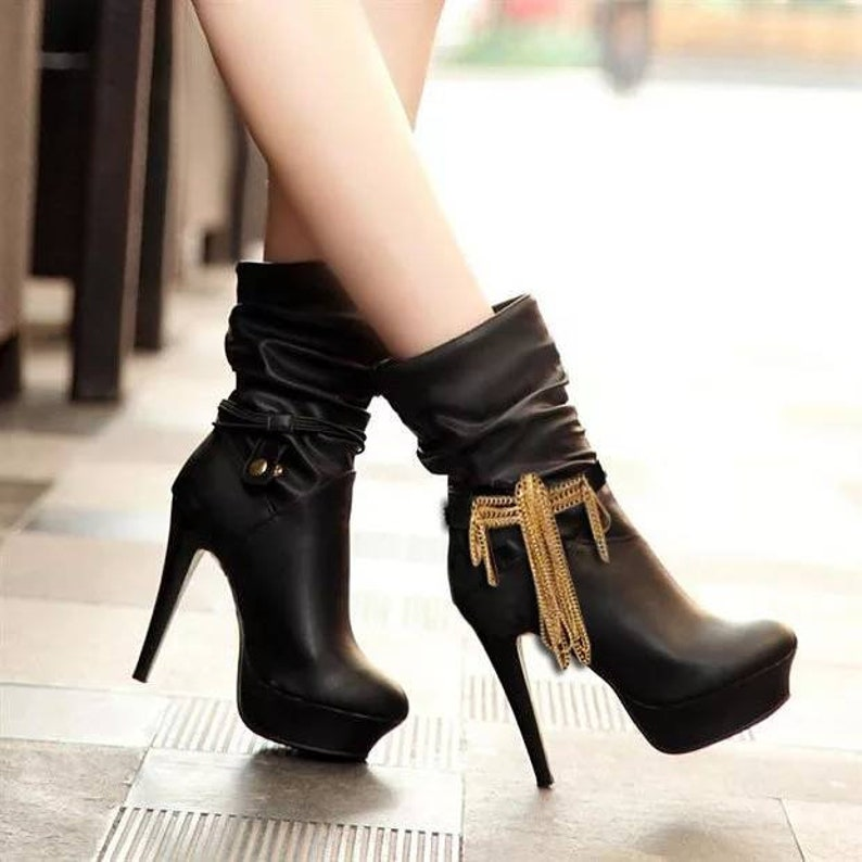 Boot Chain Gold Anklet Punk Jewelry Foot Chain Shoe Chain image 0