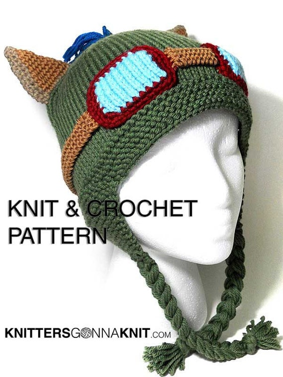 Teemo Hat Knit & Crochet Pattern digital pdf instant | Etsy