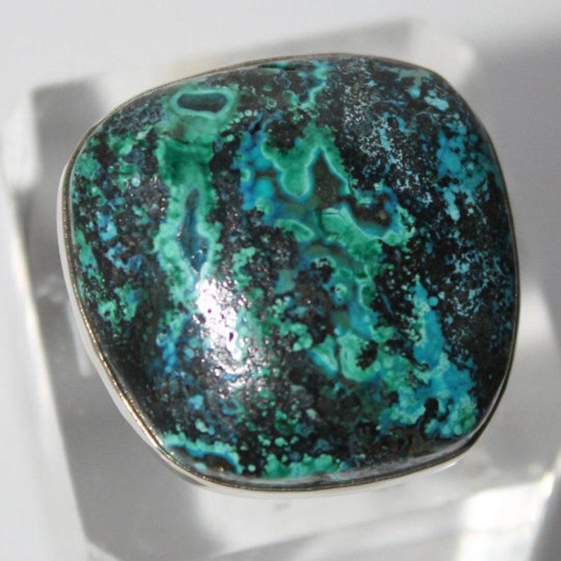 Chrysocolla malachite ring
