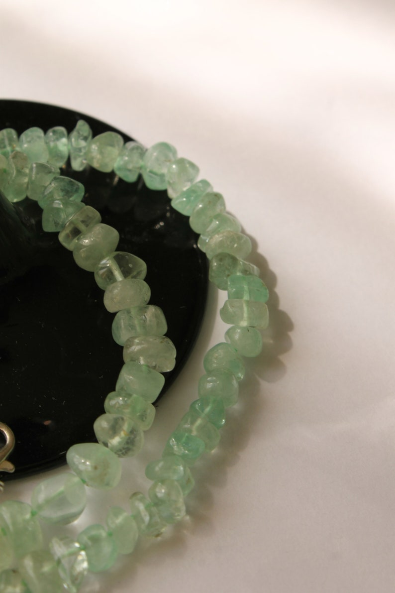 Green beryl beaded necklace