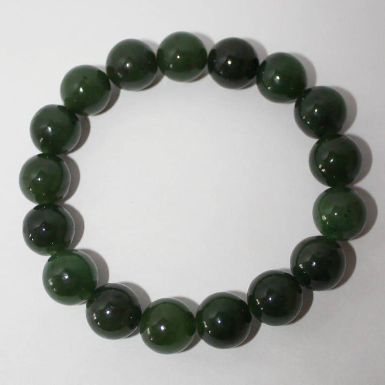 Rare Russian Gemstone FREE SHIPPING Russian jade Green Jade Beaded Bracelet