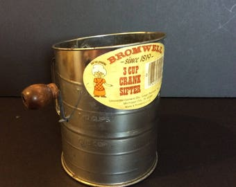 Crank Flour Sifter by Bromwell