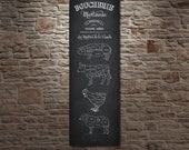 French Butcher Shop Butcher cuts Meat Cuts Boucherie Coupes de Viande Kitchen Print Butcher Sign Poster Print Butcher Diagram Cuts Of Meat