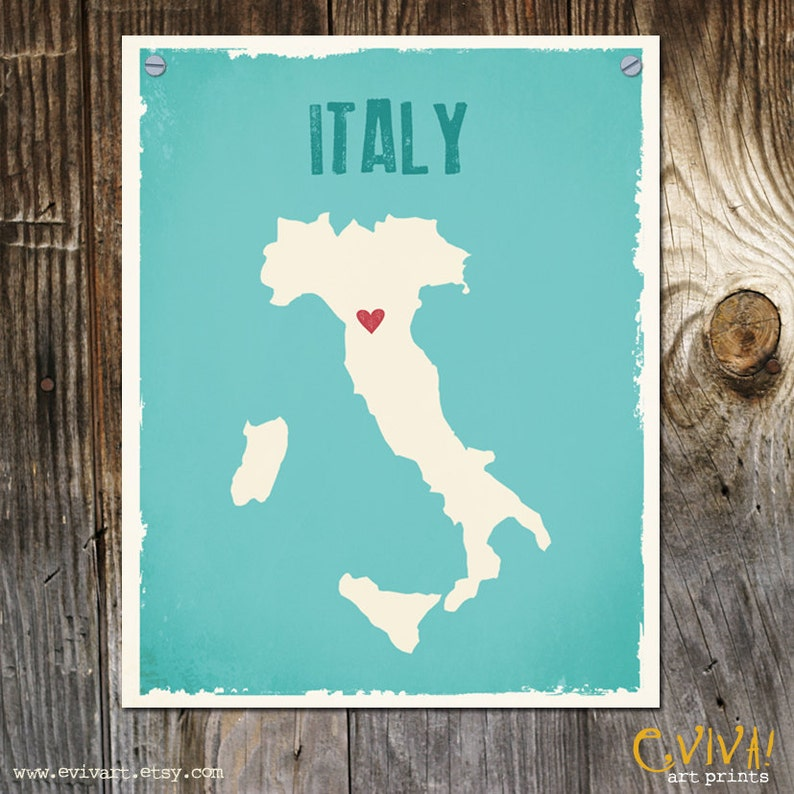 Italy Custom Wedding Print Destination Wedding Gift Memento image 0