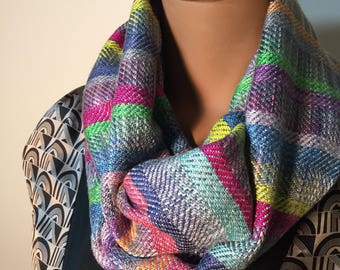 """Handwoven Infinity Scarf """"The Palette"""""""