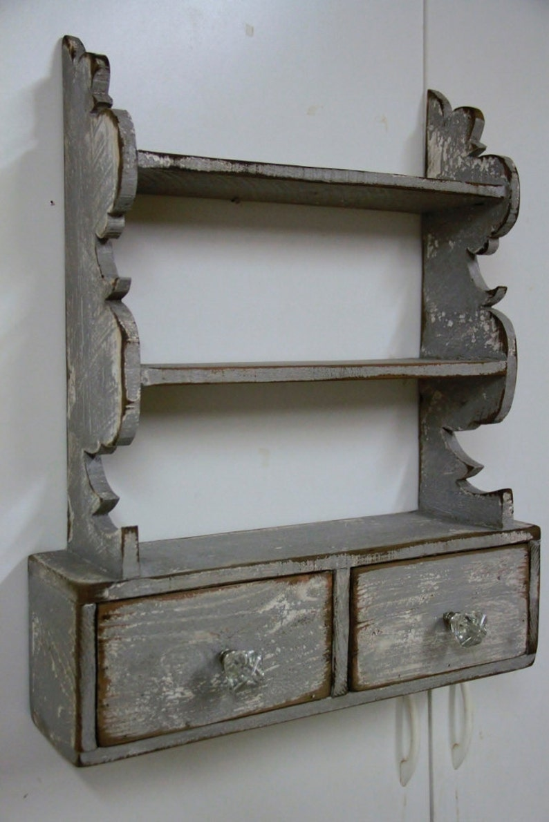 French Country Wall Shelf Cottage Chic Wall Shelf Kitchen Etsy